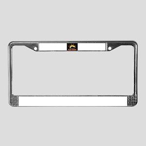 FLAMING ROYAL FLUSH POKER ART License Plate Frame