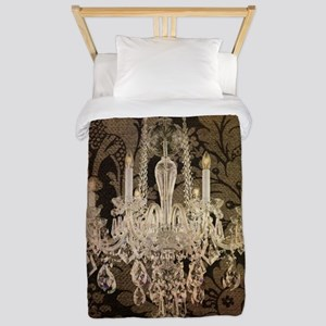 steampunk damask vintage chandelier Twin Duvet