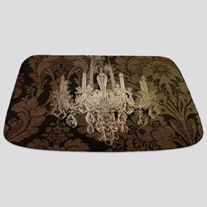 steampunk damask vintage chandelier Bathmat