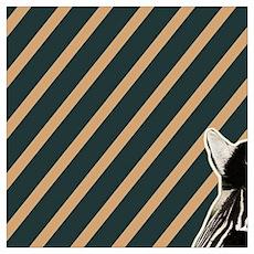 modern stripes hipster zebra Poster