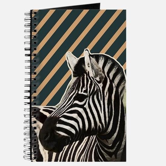 modern stripes hipster zebra Journal