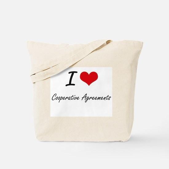 I love Cooperative Agreements Tote Bag