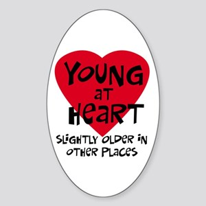Young at heart Oval Sticker