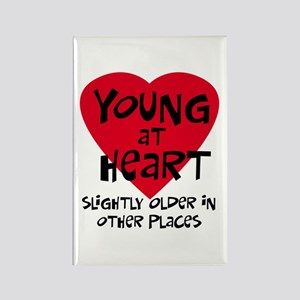 Young at heart Rectangle Magnet