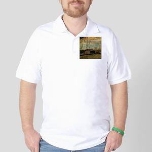 western rustic log cabin Golf Shirt