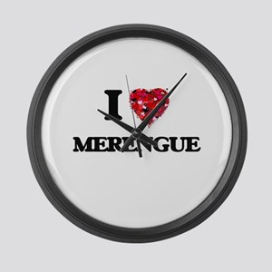 I Love My MERENGUE Large Wall Clock