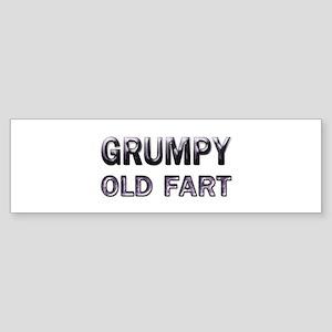 grumpy old fart Bumper Sticker