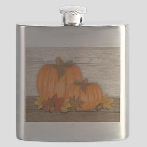 Fall Pumpkins Flask