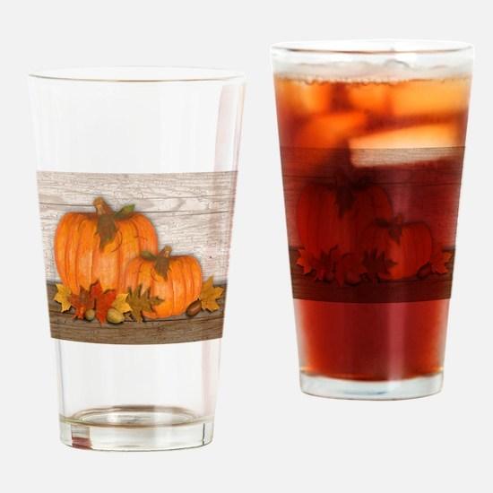 Fall Pumpkins Drinking Glass