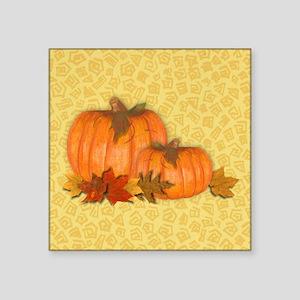 """Fall Pumpkins Square Sticker 3"""" x 3"""""""