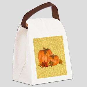 Fall Pumpkins Canvas Lunch Bag