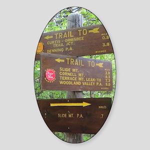Catskill Trail Sign Sticker (Oval)