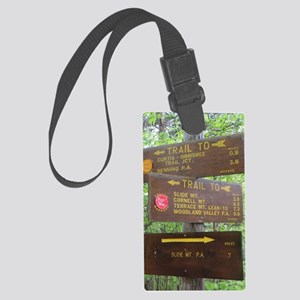 Catskill Trail Sign Large Luggage Tag