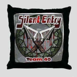 Silent Entry Throw Pillow