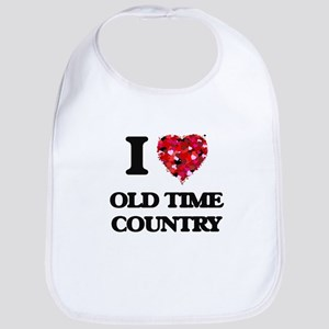 I Love My OLD TIME COUNTRY Bib