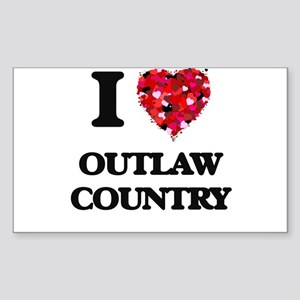I Love My OUTLAW COUNTRY Sticker