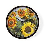 Sunflower Cluster Wall Clock
