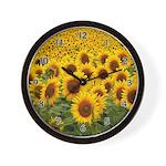 Sunflower Fields Wall Clock
