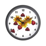 Ladybug Party Wall Clock
