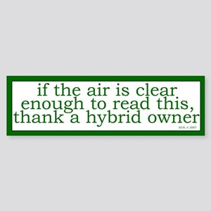 Clear Air Bumper Sticker