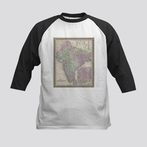 Vintage Map of India (1853) Baseball Jersey