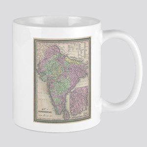 Vintage Map of India (1853) Mugs