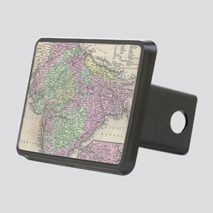 Vintage Map of India (1853 Rectangular Hitch Cover