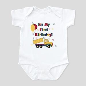 Dump Truck 1st Birthday Infant Bodysuit