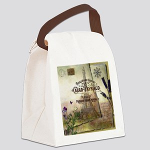 French collage Canvas Lunch Bag