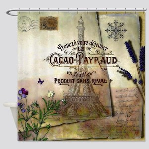 French collage Shower Curtain