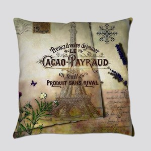 French collage Everyday Pillow
