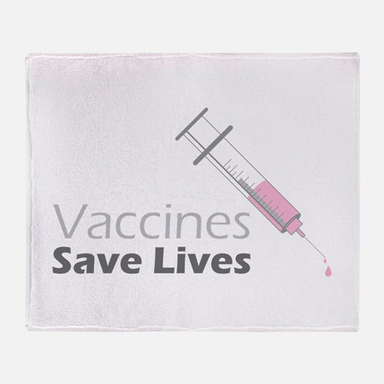Vaccines Save Lives Throw Blanket