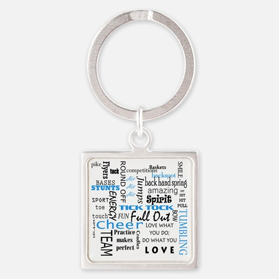 Funny Cheer team Square Keychain