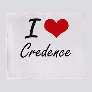 I love Credence Throw Blanket