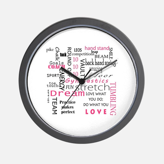 Cute I love gymnastics Wall Clock