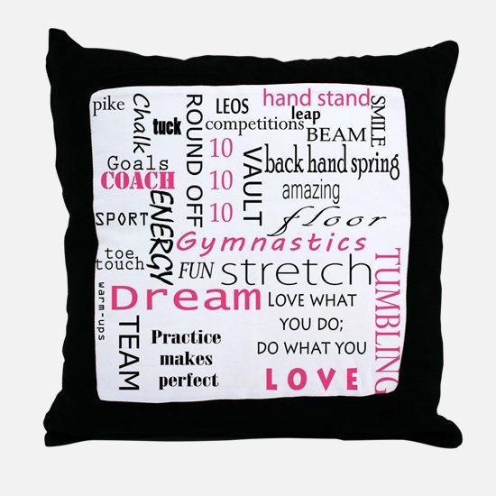 Cute Gymnastics Throw Pillow