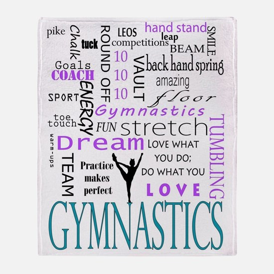 Cute Gymnastics Throw Blanket