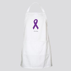 Strong. Purple Ribbon Apron