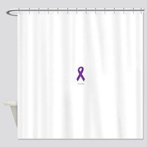 Strong. Purple Ribbon Shower Curtain
