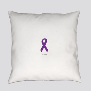 Strong. Purple Ribbon Everyday Pillow