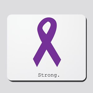 Strong. Purple Ribbon Mousepad