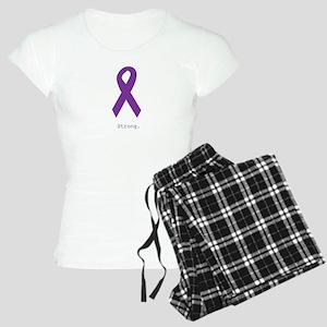 Strong. Purple Ribbon Women's Light Pajamas