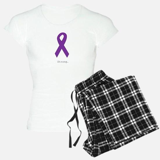 Strong. Purple Ribbon pajamas