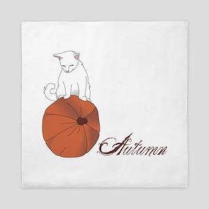 Autumn Cat Queen Duvet