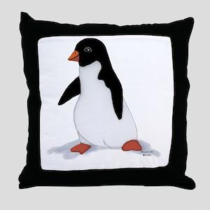 PenguinTee Throw Pillow