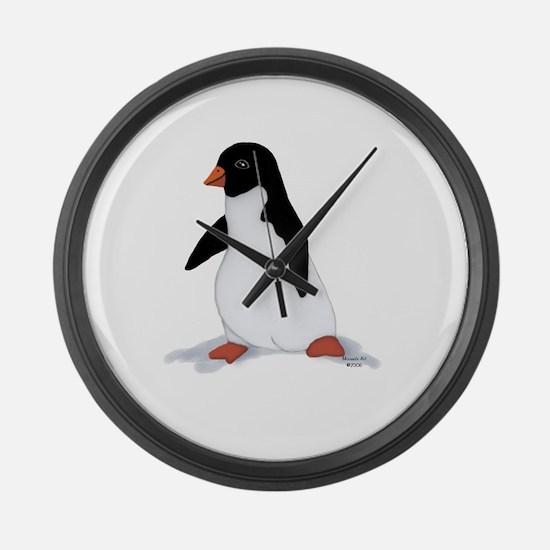 PenguinTee.jpg Large Wall Clock