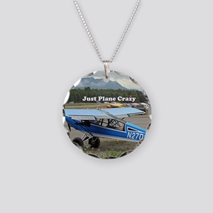 Just plane crazy: high wing Necklace Circle Charm