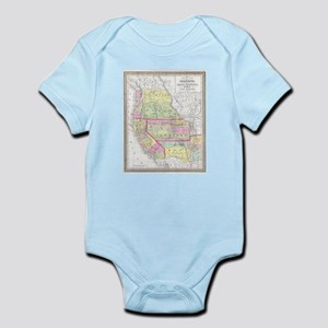 Vintage Map of The Western United States Body Suit