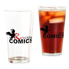 Red Crow Comics T-shirt Drinking Glass