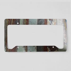 Vintage Wooden Planks License Plate Holder